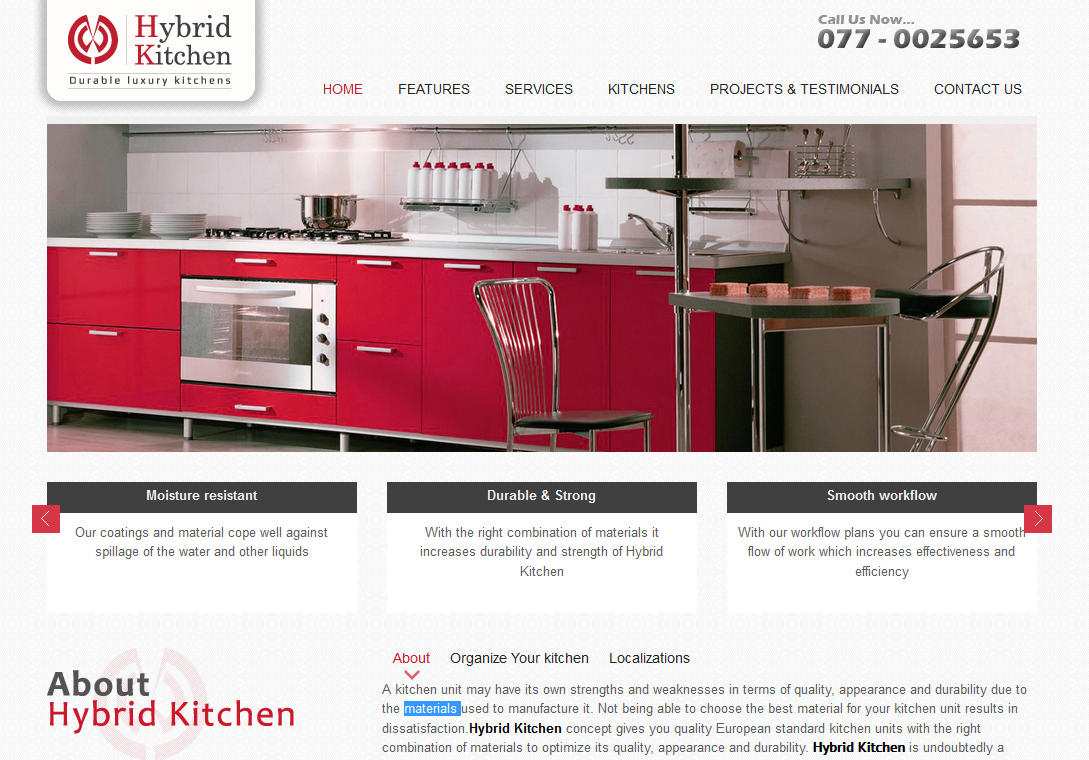Hybrid Kitchen Custom Made Kitchens Travel Technology Software Application Development Web
