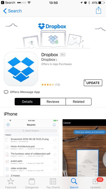 DropBox Appstore