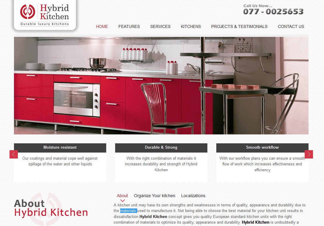 Hybrid Kitchen Travel Technology Software Application Development Web Site Design