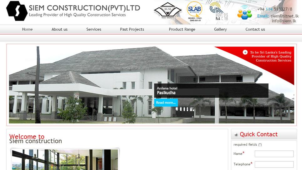SIAM CONSTRUCTIONS  - siem.lk